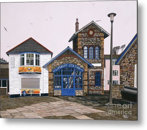 England Metal Print featuring the painting Lifeboat Station by Jiji Lee