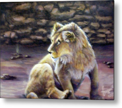 Fuqua - Artwork. Wildlife Metal Print featuring the painting Like Son by Beverly Fuqua