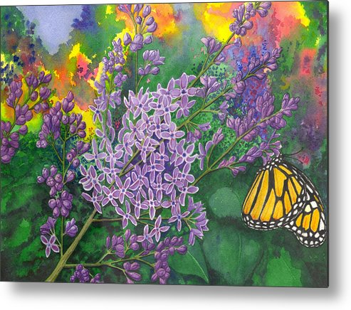 Lilac Metal Print featuring the painting Lilac by Catherine G McElroy