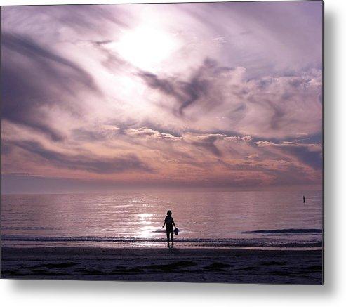 Beach Metal Print featuring the photograph Little Waves Big World by Amanda Vouglas