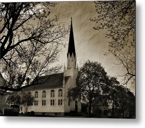 Little White Church Metal Print featuring the photograph Little White Church by Joanne Coyle