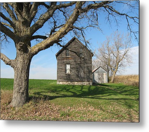 Farmhouses Metal Print featuring the photograph Lock The Door by Richard Stanford