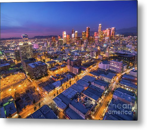Los Metal Print featuring the photograph Los Angeles At Dusk by Konstantin Sutyagin