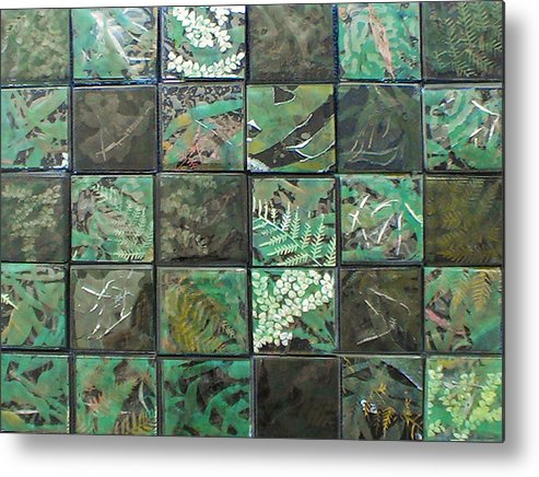 Logging Metal Print featuring the mixed media Lost Rainforest by Srah King