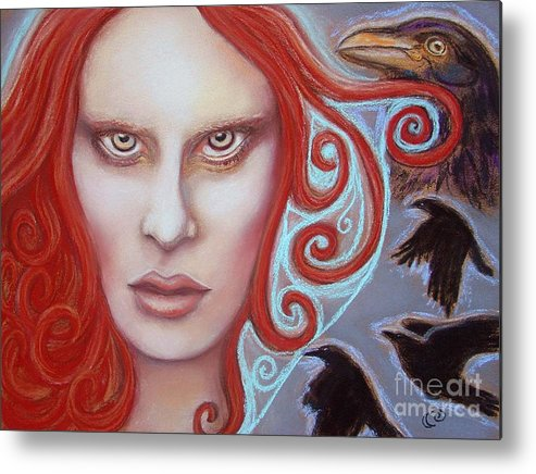 Goddess Metal Print featuring the painting Macha by Tammy Mae Moon
