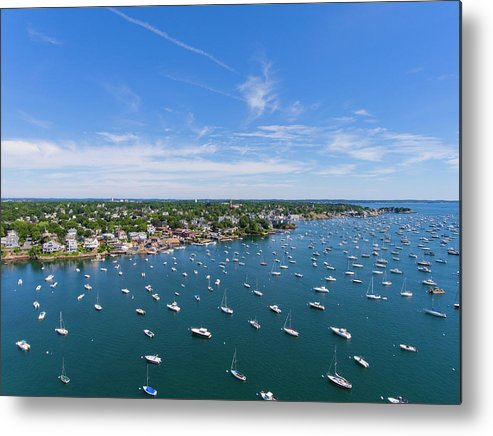 Landscape Metal Print featuring the photograph Marblehead Harbor by Phil Brown