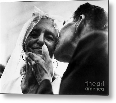 100 Metal Print featuring the photograph Marrying At 100 by Granger