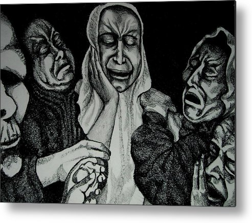 Mother Metal Print featuring the drawing Mother by Dannielle Murphy