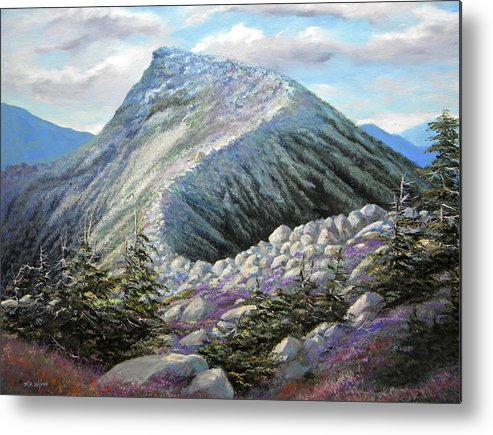 Landscape Metal Print featuring the painting Mountain Ridge by Frank Wilson