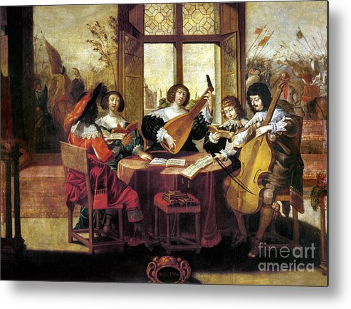 Abraham Metal Print featuring the photograph Music, 17th Century by Granger