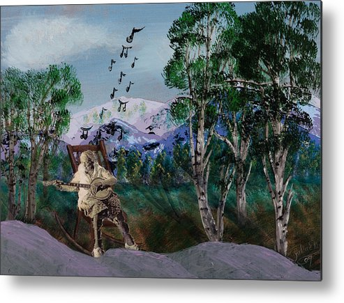 Landscapes Metal Print featuring the painting My Lady by Julia Ellis