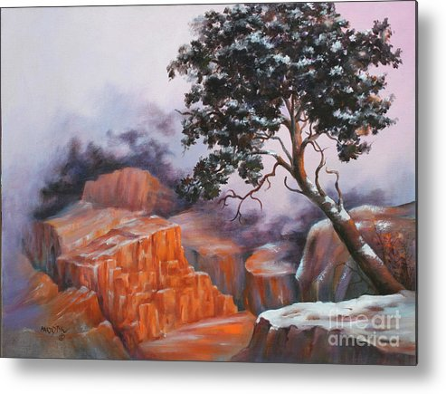 Landscape Metal Print featuring the painting Nature At Rocky Kingdom by Marta Styk