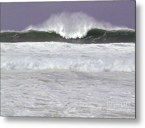 Seascape Metal Print featuring the photograph North Beach Winter by Paul Miller