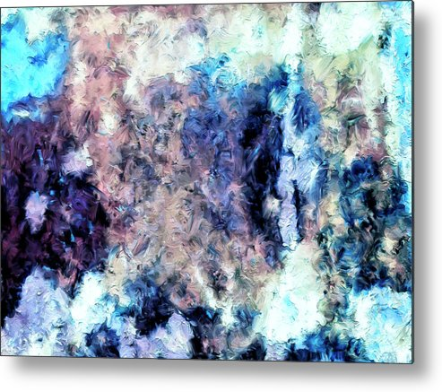 Abstract Metal Print featuring the painting Obscured By Clouds by Dominic Piperata
