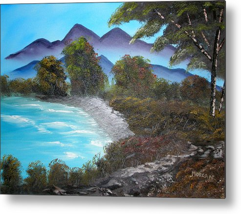 Seascape Metal Print featuring the painting Ocean Breezes by Sheldon Morgan