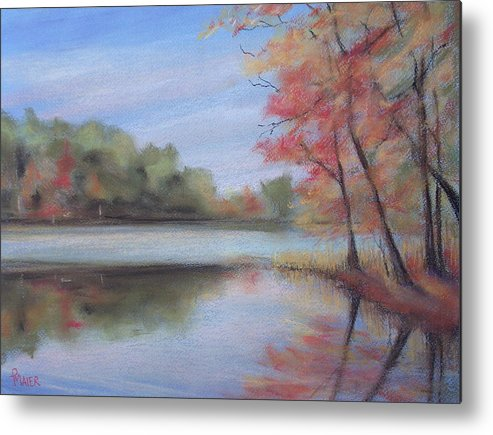 Lakescape Metal Print featuring the painting Old Friend by Pete Maier