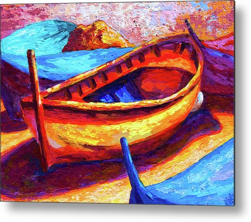 Boat Metal Print featuring the painting Old Soul by Marion Rose
