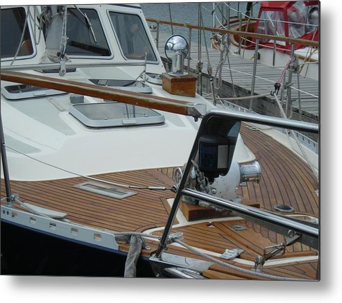 Boats Metal Print featuring the photograph On Deck by Peter Mowry