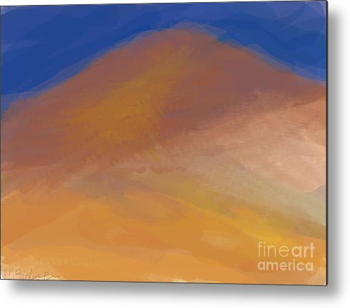 Mountain Metal Print featuring the digital art One Mountain by Margot Paisley