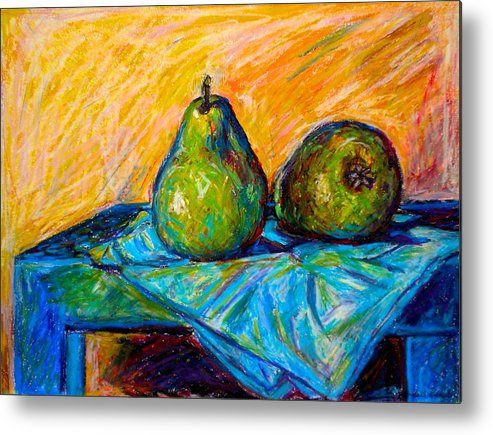Still Life Metal Print featuring the painting Other Pears by Kendall Kessler
