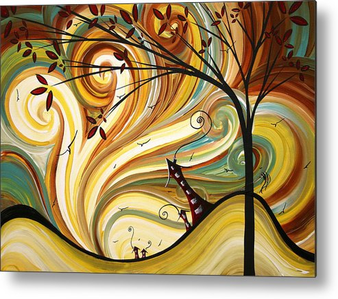Art Metal Print featuring the painting Out West Original Madart Painting by Megan Duncanson