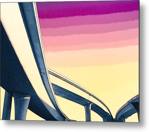 Overpass Metal Print featuring the mixed media Overpass One by Dominic Piperata