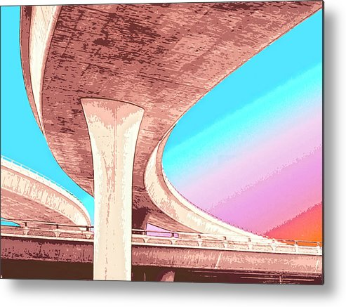 Overpass Metal Print featuring the mixed media Overpass Two by Dominic Piperata