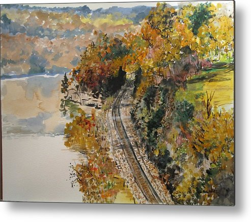 Autumn Metal Print featuring the painting Ozark Fall by Sharon De Vore