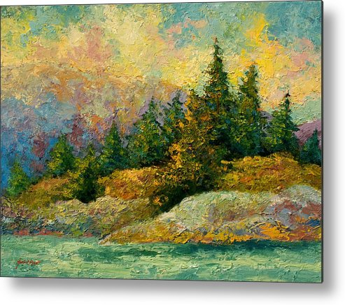 Alaska Metal Print featuring the painting Pacific Island by Marion Rose