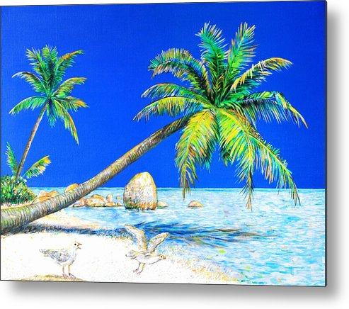 Landscape Metal Print featuring the painting Palm Beach Number Five by Daniel House