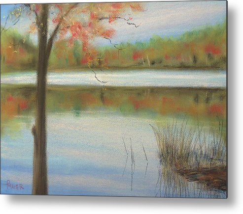 Lakescape Metal Print featuring the painting Pastel Lake by Pete Maier