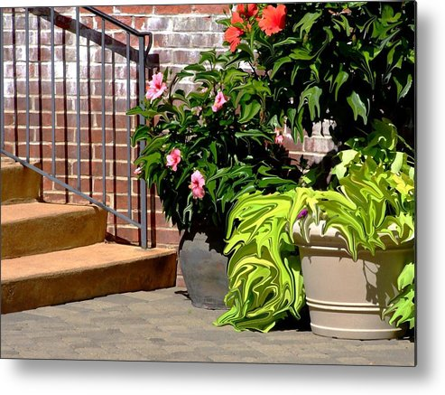 Scenic Metal Print featuring the photograph Patio Scenic by Jim Darnall