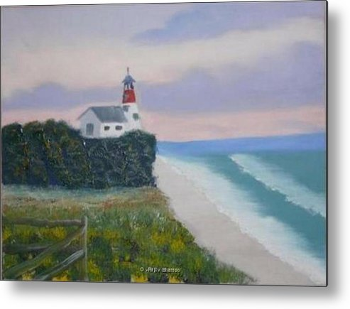 Seascape Metal Print featuring the painting Peace Sold by R B