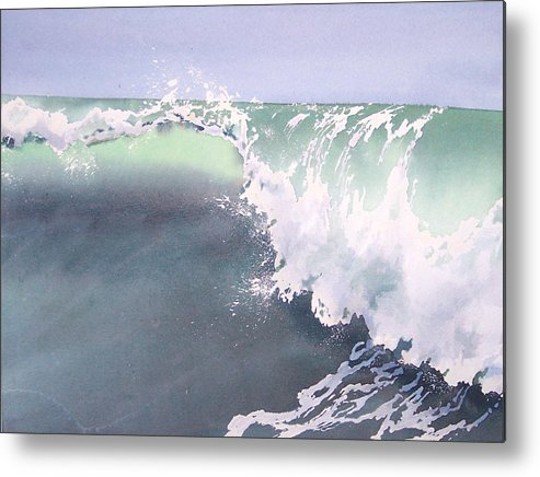 Wave Metal Print featuring the painting Pismo Wave Number Eight by Philip Fleischer
