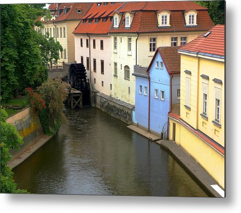 Prague Metal Print featuring the photograph Prague Canal Mill by C H Apperson