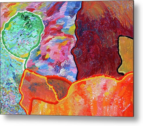 Fusionart Metal Print featuring the painting Puzzle by Ralph White