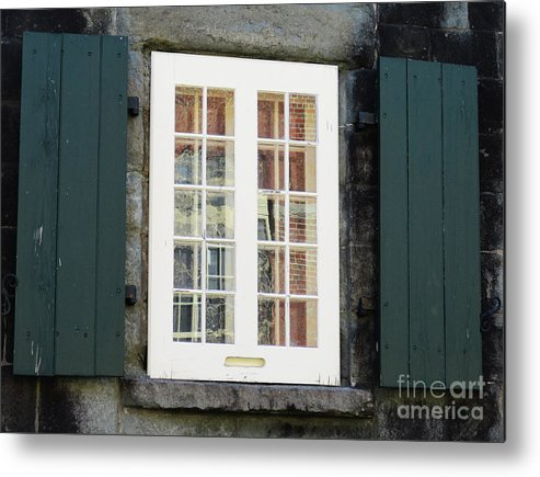 Quebec Metal Print featuring the photograph Quebec City Windows 47 by Randall Weidner