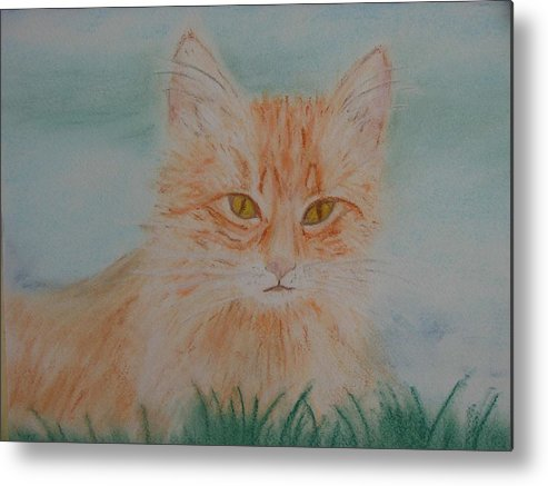 Kitty Metal Print featuring the pastel Ready For The Pounce by Shiana Canatella