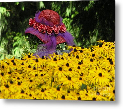 Red Hat Metal Print featuring the photograph Red Hat Parade by Louise Magno