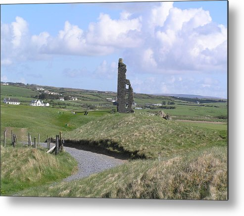 Castle Metal Print featuring the photograph Remains Of An Irish Castle by Jeanette Oberholtzer