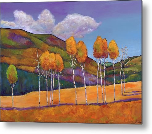 Autumn Metal Print featuring the painting Reminiscing by Johnathan Harris