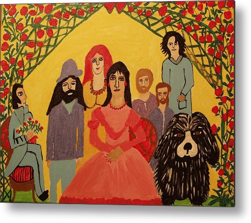 People Metal Print featuring the painting Reunion by Betty J Roberts