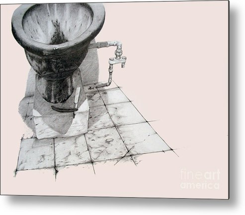 Vestibule Metal Print featuring the drawing Revisit by Jean Nathan Forges