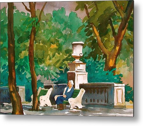 Figure Metal Print featuring the painting Rittenhouse Square by Faye Ziegler