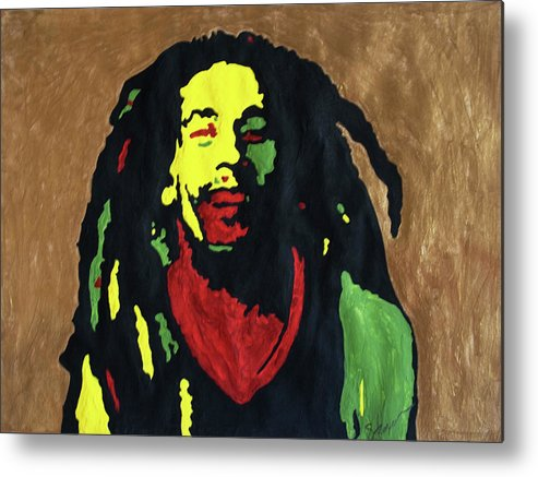 Robert Nesta Marley Metal Print featuring the painting Robert Nesta Marley by Stormm Bradshaw