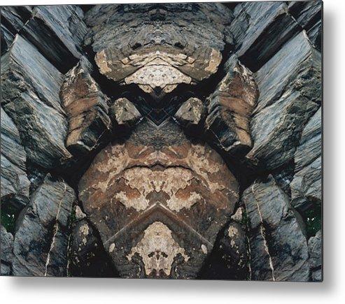 Rocks Metal Print featuring the photograph Rock Gods Rock Matron by Nancy Griswold