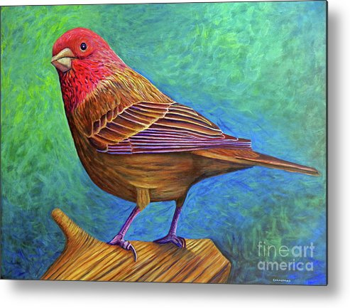 Bird Metal Print featuring the painting Sacred Space by Brian Commerford