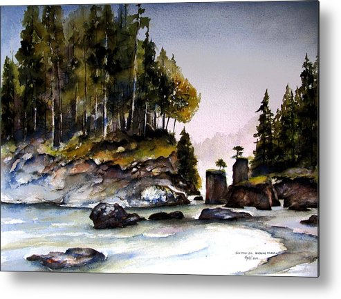 San Josef Bay Metal Print featuring the painting San Josef Bay by Marti Green