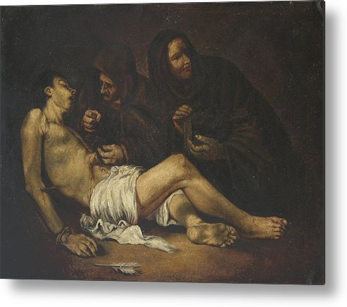 Religion Metal Print featuring the painting San Sebastian by Unknown