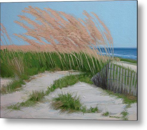 Ocean Dunes Metal Print featuring the painting Sand Dunes No 2 by Robert Rohrich